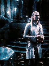 Legolas in Lothlorien after the fall of Gandalf in Moria.