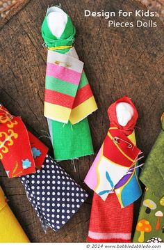 Design for Kids: How to Make a Doll | Easy no-sew doll you can make in 5 minutes. Based on Native American dolls.