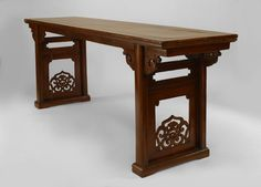 Asian Chinese table console table elm