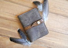 Leather boho passport cover by PairOfHandsLeather on Etsy