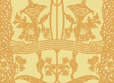 Rendering with Windows Paint that I did of the Maple Drawing-Room's drapery/portiere theme. It was an Jugendstil motif made in Darmstadt. **PLEASE** Do not take as your own! Credit accordingly. Thank-you!!