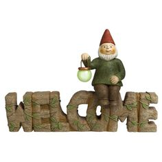 Grasslands Road Welcome Sign with Gnome 10Inch 3Pack * Find out more by clicking the image