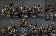 CoolMiniOrNot - Iron Warriors Chaos Bikers & Lord by Runic