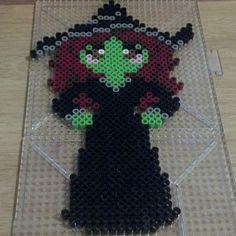 Halloween witch hama perler beads by crystahnicole