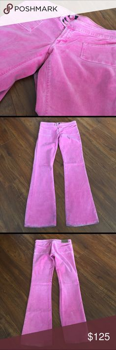 Pink Von Dutch Corduroy pants My favorite thing about these vintage cords is the cut (slight stretch + super low rise) and the adorable pockets and belt loops! Wear can be seen in the small areas on the back bottom of the pant legs (see photo). Priced accordingly and open to offers or selling cheaper via ♏️ercari. Von Dutch Pants Boot Cut & Flare