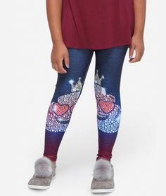 NWT Justice Plus SZ Tween Girls Bright Emoji leggings cupcake 22 Plus  fast ship