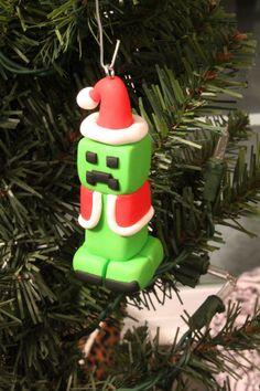 Handcrafted polymer clay Minecraft like Creeper by ArtsyVartsy, $12.00
