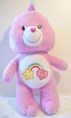 Care Bears Best Friend Bear 2005 Purple Stuffed Animal Toy