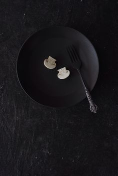 Mushroom on Black by Clara Gonzalez
