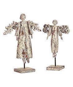 Loving this Distressed Angel Figurine Set on #zulily! #zulilyfinds