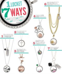 Love the different ways you can wear your Origami Owl Living Locket!  Holiday inspired by Origami Owl.   Contact to to get your Jewlery Bar booked www.meghangaska.origamiowl.com