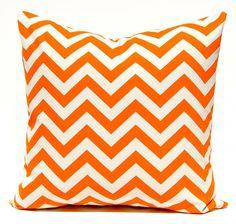Orange chevron cushion cover