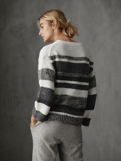 Soft Summer Palette, Black White Pattern, Knit Fashion, Black Sweaters, Lana, Hand Knitting, Lounge Wear, Knitwear, Knit Crochet
