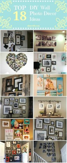 Top 18 DIY Wall Photo Decor Ideas.