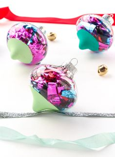 DIY Color Dipped Ornaments