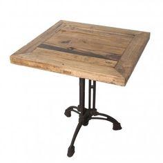 Table carrée bois Brasserie