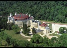 West Baden Springs Hotel -     Where: French Lick, Indiana A bit of history: Hotelier Lee Sinclair hired 500 men to work 10-hour shifts six days a week to build the domed building that every architect said couldn't be built.