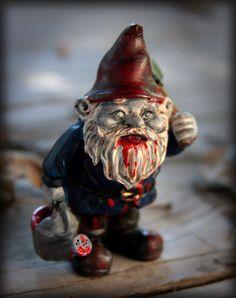 Mini Zombie Garden Gnome Figurine, home decor