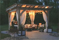 is the purpose of a Pergola? - a nest with a yard What is the purpose of a Pergola? You can create an unforgettable under your pergolaWhat is the purpose of a Pergola? You can create an unforgettable under your pergola Diy Pergola, Cedar Pergola, Wooden Pergola, Outdoor Pergola, Pergola Kits, Outdoor Rooms, Outdoor Decor, Gazebo Ideas, Pergola With Curtains