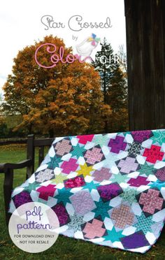 Star Crossed Quilt by Sharon McConnell, colorgirlquilts.com/shop pdf download pattern