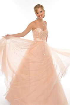 BallGown Sweetheart Tulle Floor-length Pearl Pink Quinceanera Dress at sweetquinceaneradress.com