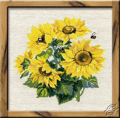 Bouquet Of Sunflowers - Cross Stitch Kits by RIOLIS - 776
