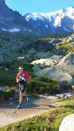 Magical trails above Chamonix village in France... just  below Aiguille du Midi cable car.