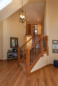 Stairwell Transformation - traditional - entry - portland - by Anne Runde Interiors  maybe not all oak trim