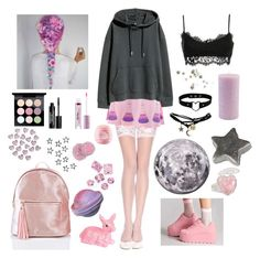 Designer Clothes, Shoes & Bags for Women Soft Grunge Outfits, Pastel Goth Outfits, Pastel Fashion, Cute Fashion, Fashion Outfits, Goth Look, Kawaii Clothes, Cosplay Outfits, Cute Casual Outfits
