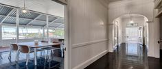 Beautiful old queenslander in Highgate Hill has been transformed into a magnificent open plan living for the modern age. #4101 #architecture #home #living #openplan #Brisbane
