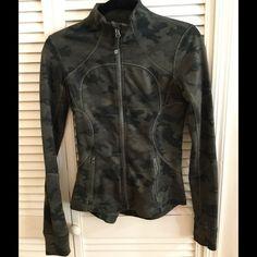 Lululemon Camo forme jacket top sz 4 Perfect condition Camo forme jacket. lululemon athletica Tops Sweatshirts & Hoodies