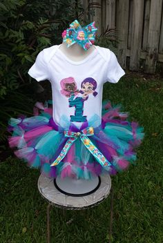 Hey, I found this really awesome Etsy listing at https://www.etsy.com/listing/235580607/bubble-guppies-deluxe-tutu-set-outfit