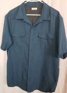 1f73f0d8ddf Columbia Men's XL Blue Vented Outdoor Light WeightButton Up Short Sleeve  Shirt #fashion #clothing