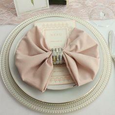 BLUSH NAPKINS FOR WEDDINGS 12-pk, 20 inch Blush Napkin for Weddings, Wholesale Cloth Napkins