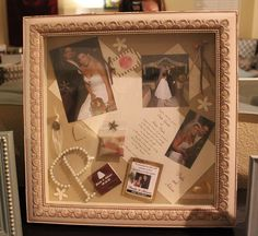 Wedding shadowbox by doublepeasLV, via Flickr