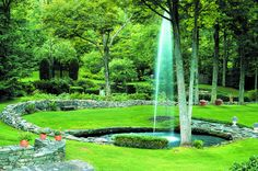 4. Ashintully Gardens, Tyringham The 30-year project of contemporary composer John McLennan, Ashintully Gardens are a serene retreat in the Berkshires surrounded by forested hills and traversed by a rushing stream. The design of the gardens is inspired by music and melody.