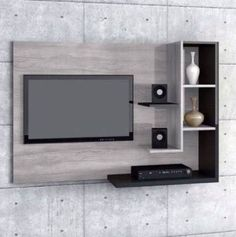 6 Valuable Clever Tips: Floating Shelves Next To Tv Wall Mount floating shelves with tv modern living.Floating Shelves With Lights Built Ins floating shelves with tv modern living. Bedroom Wall Decor Above Bed, Tv Wall Decor, Tv In Bedroom, Trendy Bedroom, Diy Bedroom, Bedroom Small, Room Decor, Bedroom Black, Wood Bedroom