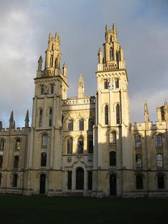 undoubtedly an inspiration for Matthew, Hawksmoor's towers, All Souls College