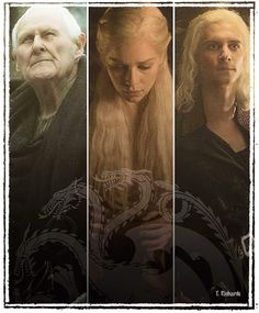 House Targaryen ~ Aemon, Daenerys and Viserys ~ Game Of Thrones