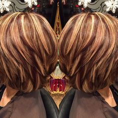 Image result for highlights and lowlights for short brown hair