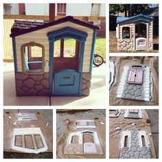 My little tikes playhouse transformation. Rustoleum 2X spray paint.