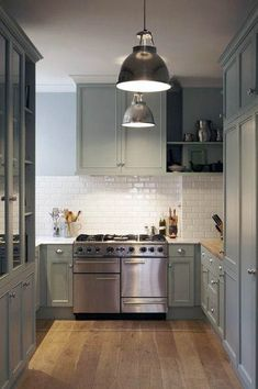 Most Awesome Sage Kitchen Cabinet Design Ideas - Awesome Indoor & Outdoor Sage Kitchen, Green Kitchen Cabinets, Kitchen Cabinet Colors, Kitchen Colors, Kitchen Dining, Kitchen Decor, Kitchen White, Bathroom Cabinets, White Cabinets