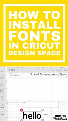 How to Upload Fonts To Cricut – Easily Add Fonts To Design Space! How to Upload Fonts To Cricut – Easily Add Fonts To Design Space!,Cricut how to install fonts in cricut design space. Cricut Vinyl, Cricut Heat Transfer Vinyl, Cricut Air 2, Cricut Craft Room, How To Use Cricut, Cricut Help, Polices Cricut, Proyectos Cricut Explore, Free Fonts For Cricut