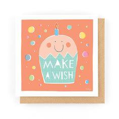 MAKE A WISH - Greeting Card www.freya-art.com
