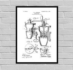 Coffee Related Patent - Coffee Mill - Coffee Art - Coffee Poster - Coffee Grinder Patent - Percolator Patent - French Press Patent by STANLEYprintHOUSE  3.00 USD  This poster is printed using high quality archival inks, and will be of museum quality. Any of these posters will make a great affordable gift, or tie any room together.  Please choose between different sizes and colors.  These posters are shipped in mailing tubes via USPS First Clas ..  https://www.etsy.com/ca/listing/48..