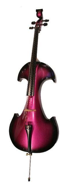 Kann jemand das edle Instrument spielen ? ;-)  Bridge Draco EC4 B/P Electric Cello - Black/Purple
