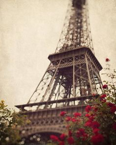 Eiffel Tower photograph Romantic Travel by EyePoetryPhotography, $30.00