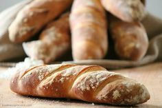 Homemade French Baguettes Recipe via @foodnessg