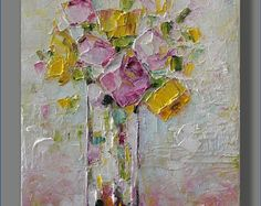 Abstract Painting Sunflower Painting Oil Painting Flower