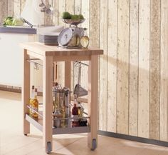 wallpaper wood imitation wood kitchen vintage occasional table roll bright